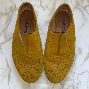 Sixtyseven Women's Anthropologie Yellow loafers